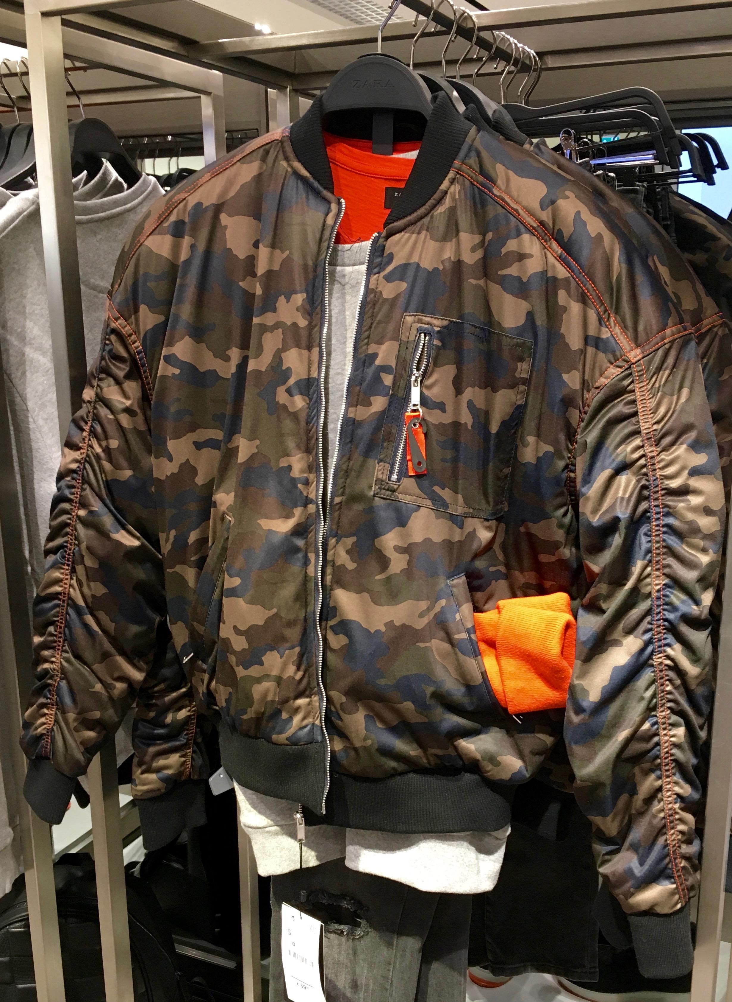 camouflage bomber