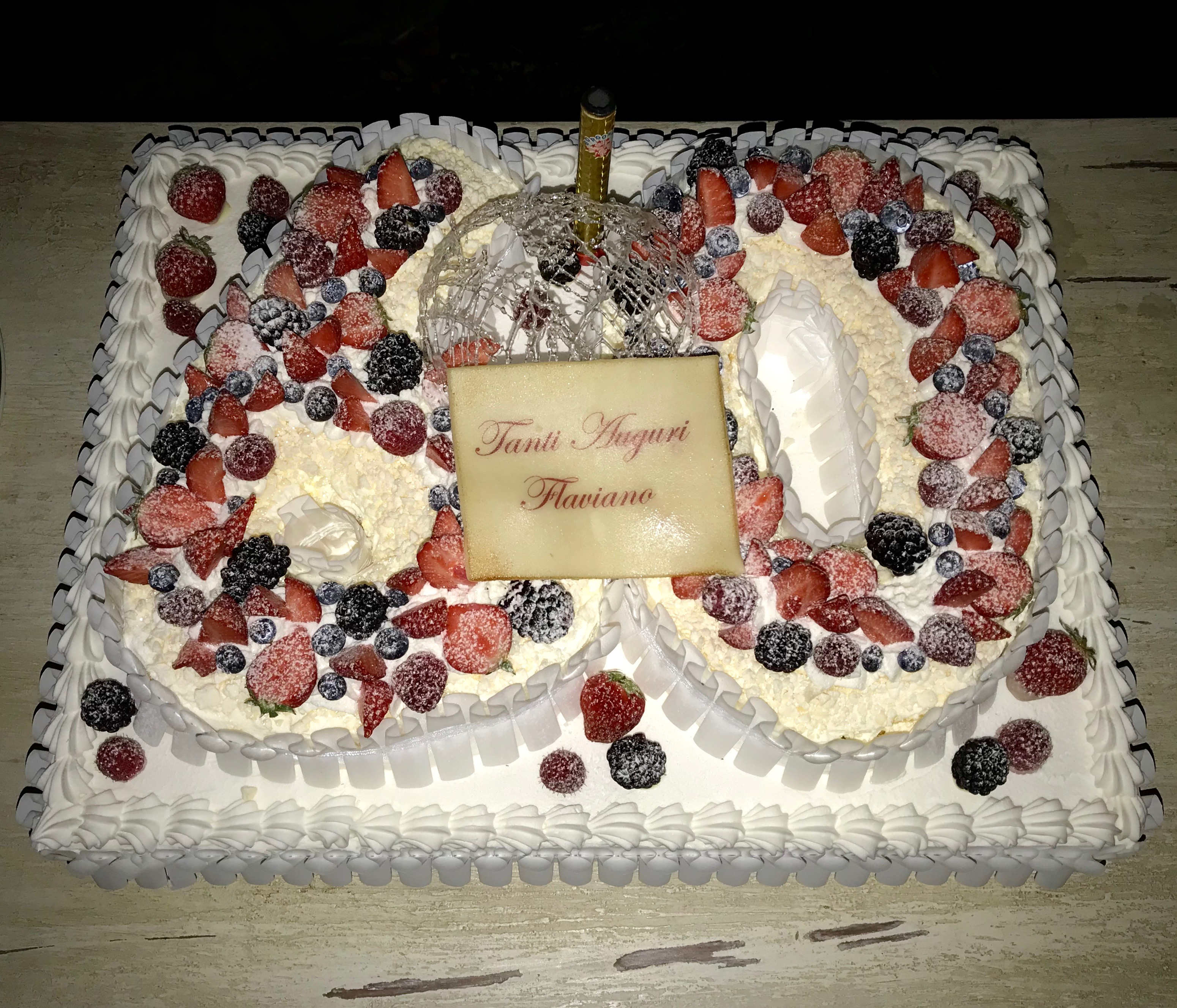 compleanno anni 60 birthday party torta